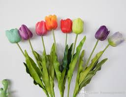tulip bouquets 2018 26 large real touch artificial tulip flowers for