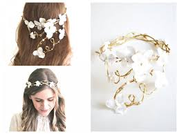 hair accessory bridal crown flower wreath wedding hair accessory woodland