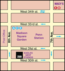 map of penn station map for eagles nest studios nyc s preferred daylight rental studio