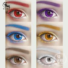 usd 4 17 anime stage cosplay color false eyelashes red yellow