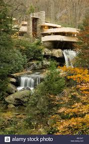 fallingwater house by frank lloyd wright 1935 mill run stock
