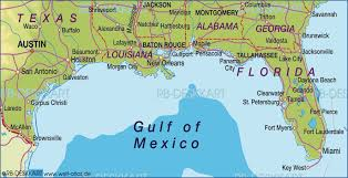 louisiana florida map map of gulf coast united states map in the atlas of the world
