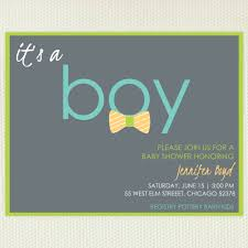 its a boy and bow tie baby shower invitations with gray background