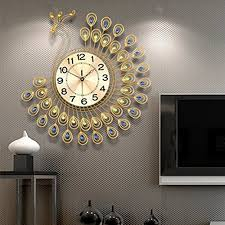 living room wall clock decorative wall clocks for living room amazon com
