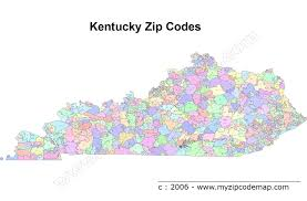 Illinois Zip Codes Map by Kentucky Map