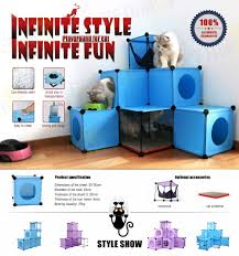 cat toys prefabricated cat tree houses cat maze playing house