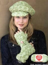 free pattern newsboy cap knit newsboy hat fingerless gloves lw1616 free patterns yarn