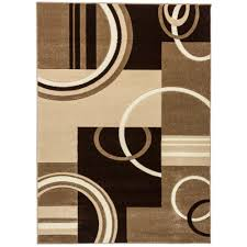 Geometric Area Rug Well Woven Ruby Galaxy Waves Ivory 3 Ft 11 In X 5 Ft 3 In