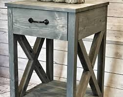 Side Tables For Living Rooms Side Table Etsy