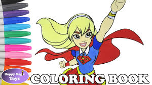 dc super hero girls supergirl coloring book pages dc superhero