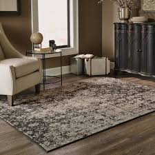 Over Dyed Distressed Rugs Distressed Overdyed Grey Black Area Rug 5 U0027 X 7 U00276 Free