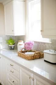 White Kitchen Backsplash Ideas by Wine Fridge White Cabinets Grey Counters Home Sweet Home