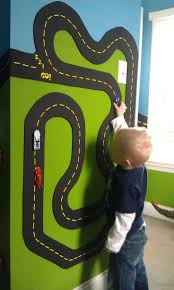 yes magnetic race track maybe just do one wall of the room to