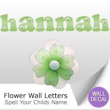 wall letter alphabet initial sticker vinyl stickers decals name flower name wall letter stickers
