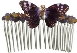 butterfly comb greta oto handmade purple butterfly hair comb traveling butterflies
