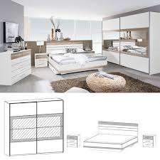 Schlafzimmer Komplett Mit Bett 140x200 Rauch Schlafzimmer Tarragona Bett 140x200 Cm Eiche Sanremo Weiß