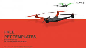 flying drone quadrocopter powerpoint templates