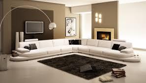 Contemporary White Leather Sofas 954 Contemporary White Italian Leather Sectional Sofa Leather