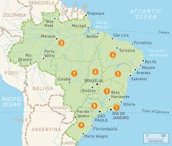 South America Map With Capitals by Map Of Brazil Brazil Regions Rough Guides Rough Guides