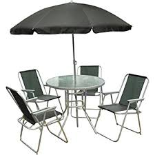 6 Piece Patio Set by 6 Piece Garden Furniture Patio Set Inc Chairs Table U0026 Umbrella