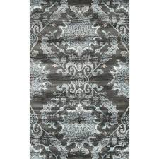 Teal And Gray Area Rug by Nuloom Vintage Messer Cream 5 Ft X 8 Ft Area Rug Gmsm04a 508