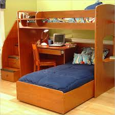 image of diy loft bed with tairs and desk