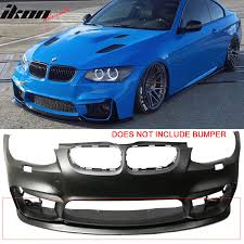 bmw e92 front bumper v1 style pu front bumper lip for 11 13 bmw e92 lci models with m4