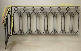 Iron Banister Cast Iron Banister With Brass Hand Rail Stairs And Banisters