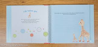 Baby Photo Album My Baby Album With Sophie The Giraffe Giveaway U2013 The