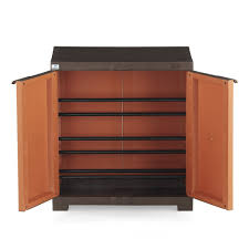 nilkamal freedom shoe cabinet rust u0026 weather brown small