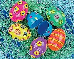 large fillable easter eggs 12 bright patterned large fillable plastic easter eggs crafty capers
