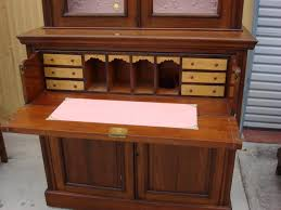 elegant drop front secretary desk with hutch