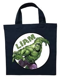 incredible hulk trick or treat bag personalized incredible hulk