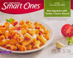 smart ones savory italian recipes mini rigatoni with vodka cream