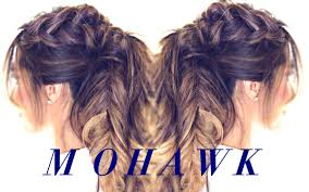 mohawk pony braid hairstyle cute hairstyles for medium long