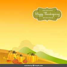 thanksgiving background with pumpkin vector free