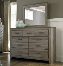 Bedroom Dresser With Mirror Signature Design By Zelen Rustic Dresser Bedroom