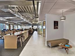 Contemporary Office Interior Design by Modern Office With Open Space Interior With Industrial Touches