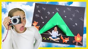 how to make diy camping tent craft photography for kids campfire