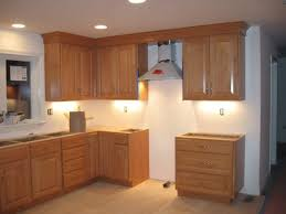 Installing Cabinets In Kitchen Kitchen Crown Kitchen Cabinets Nice On For Walnut Wood Red Glass