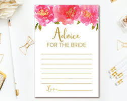 Bride Cards Advice For The Bride Cards Shower Advice Cards 3x4