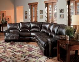 Leather Sectional Recliner Sofa by Impressive On Leather Reclining Sectional Sofa Leather Sectional