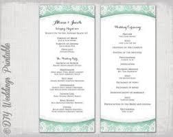 order of ceremony for wedding program wedding ceremony order of service template template idea
