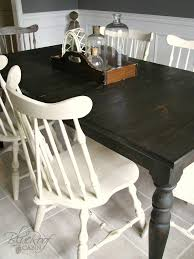 Black Farmhouse Table Blue Roof Cabin Custom Dark Stained Farm Table