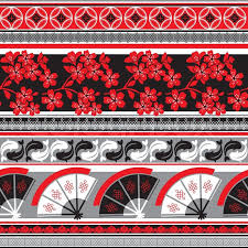 vector seamless pattern with japanese ornament stock vector