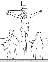 jesus crucified on the cross coloring page and crucifixion