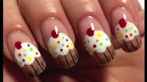 nail art design tutorial sweet cupcake simple youtube