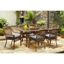 Patio Dining Sets Walmart Patio Ideas Patio Conversation Set With Pit Table Wicker