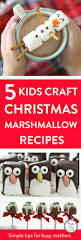 easy christmas marshmallow craft recipes mums make lists