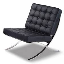 Black Armchair Design Ideas Awesome Contemporary Leather Chairs 3 Black Barcelona Chrome Chair